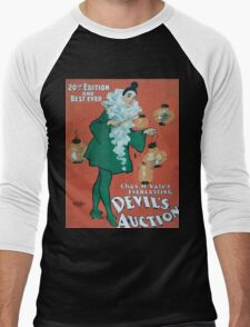Performing Arts Posters Chas H Yales everlasting Devils auction 20th edition and best ever 0040 Men's Baseball ¾ T-Shirt