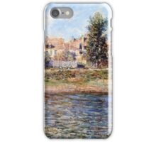 Claude Monet - La berge de La Seine (Orillas del Sena) (1880 - 1880)  iPhone Case/Skin