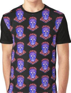 Skull and Roses (small, tiled design) Graphic T-Shirt