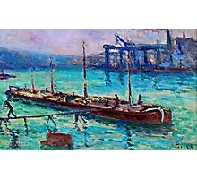 Maximilien Luce - Peniche Near The Bank Of The Seine 1910  Photographic Print