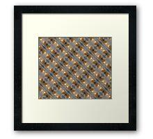 duct tape rose pattern Framed Print