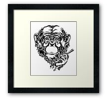 Smoking monkey Framed Print
