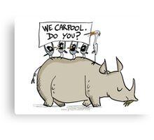 Carpooling Humour Canvas Print