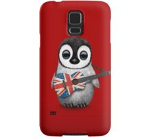 Baby Penguin Playing British Flag Guitar Red Samsung Galaxy Case/Skin
