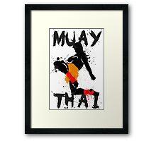 Muay Thay Fighter Framed Print