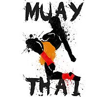 Muay Thay Fighter Photographic Print