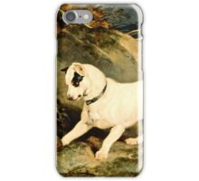 Edwin Landseer- Portrait Of A Terrier 1828  iPhone Case/Skin