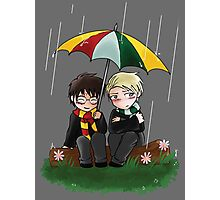 Harry and Draco Chibis Photographic Print