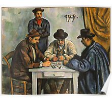 Paul Cezanne - Les Joueurs De Cartes 2 - Players in cards Poster