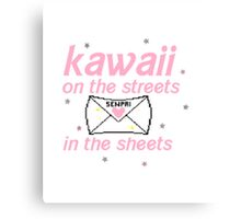 Kawaii on the Streets, Senpai in the Sheets Canvas Print