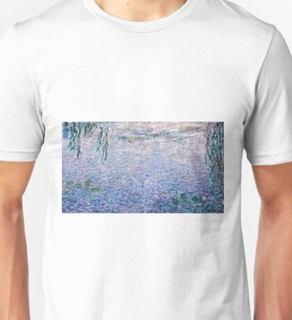 Claude Monet - The Water Lilies - Clear Morning with Willows (1915 - 1926)  Unisex T-Shirt