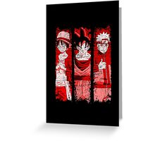 THREE HEROES Greeting Card
