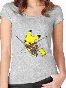 Shingeki No Pika! Women's Fitted Scoop T-Shirt