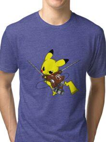 Shingeki No Pika! Tri-blend T-Shirt