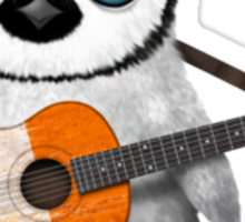 Baby Penguin Playing Irish Flag Guitar Red Sticker
