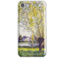 Claude Monet - The Willows iPhone Case/Skin