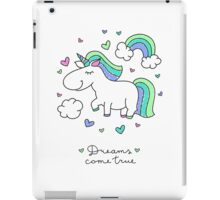 cute unicorns and rainbows iPad Case/Skin