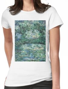 Claude Monet - The Japanese Bridge (1914 - 1917)  Womens Fitted T-Shirt