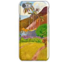 Paul Gauguin - Tahitian Landscape (1891)  iPhone Case/Skin