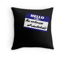 Hello I am - the archmage of Winterhold Throw Pillow