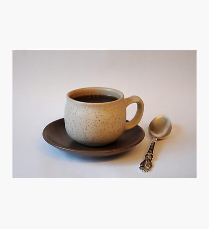 Coffee Cup with a Spoon Photographic Print
