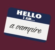 Hello I am - a vampire by nyaell