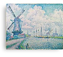 Paul Signac - Canal of Overschie (1906)  Canvas Print