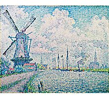 Paul Signac - Canal of Overschie (1906)  Photographic Print