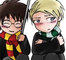 Harry and Draco Chibis Sticker