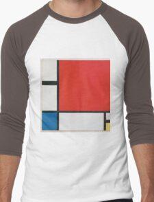 Piet Mondriaan - Mondrian Composition Ii In Red Blue And Yellow Men's Baseball ¾ T-Shirt