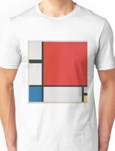 Piet Mondriaan - Mondrian Composition Ii In Red Blue And Yellow Unisex T-Shirt
