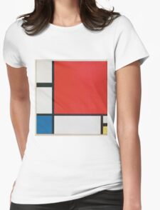 Piet Mondriaan - Mondrian Composition Ii In Red Blue And Yellow Womens Fitted T-Shirt