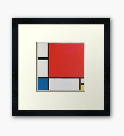 Piet Mondriaan - Mondrian Composition Ii In Red Blue And Yellow Framed Print