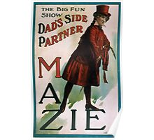 Performing Arts Posters The big fun show Dads side partner Mazie 0037 Poster