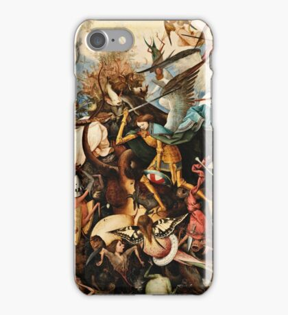 Pieter Bruegel The Elder - The Fall Of The Rebel Angels1562  iPhone Case/Skin