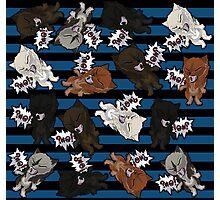 Swearwolves - blue Photographic Print