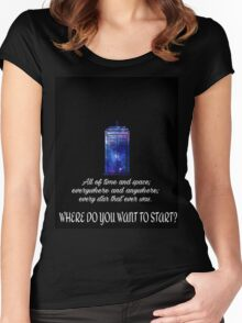 All of time and space Women's Fitted Scoop T-Shirt
