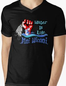 Water Is Life - Stand With Standing Rock Mens V-Neck T-Shirt