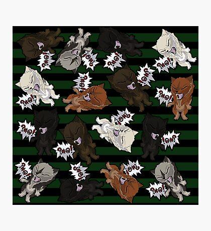 Swearwolves - green Photographic Print