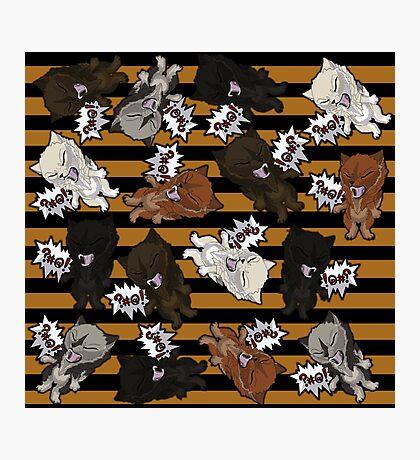 Swearwolves - orange Photographic Print