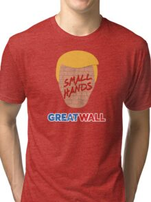 great wall - small hands Tri-blend T-Shirt