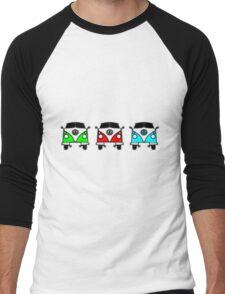 VW Camper Van Threesome Men's Baseball ¾ T-Shirt