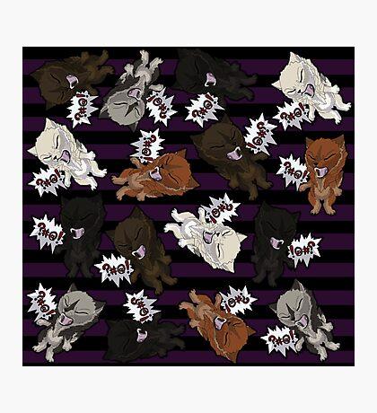 Swearwolves - purple Photographic Print