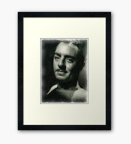 William Powell Hollywood Actor Framed Print
