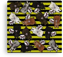 Swearwolves - yellow Canvas Print