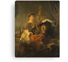 Rembrandt - Rembrandt And Saskia In The Scene Of The Prodigal Son Canvas Print