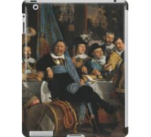 Bartholomeus Van Der Helst - Banquet Of The Amsterdam Civic Guard In Celebration Of The Peace Of Munster iPad Case/Skin