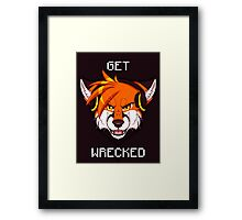 GET WRECKED - Fox Framed Print