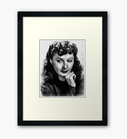 Barbara Stanwyck Hollywood Actress Framed Print