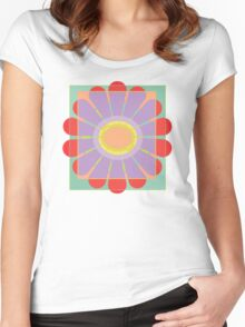 Transluscence Flower Women's Fitted Scoop T-Shirt
